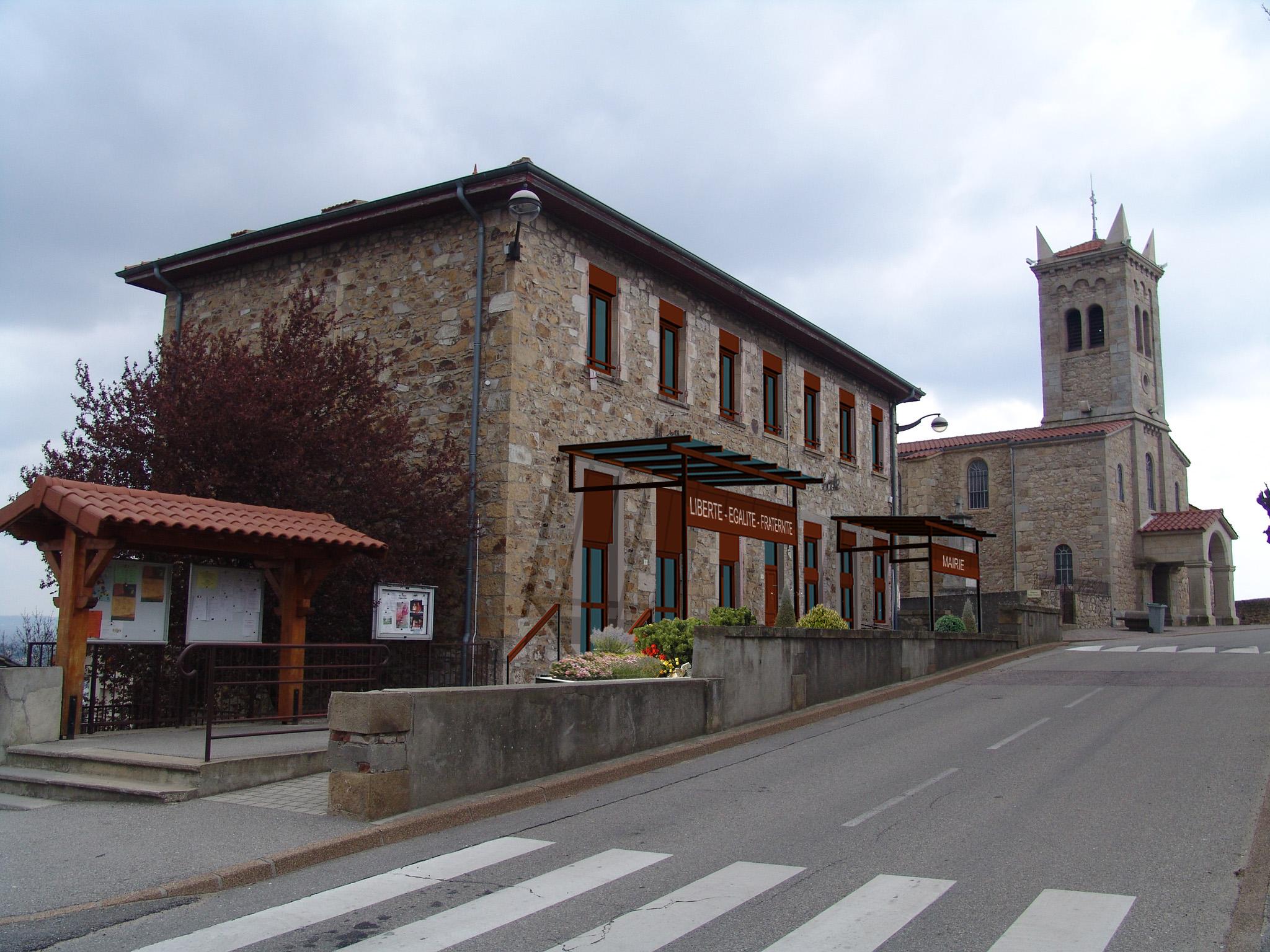 Réhabilitation du bâtiment de la Mairie.