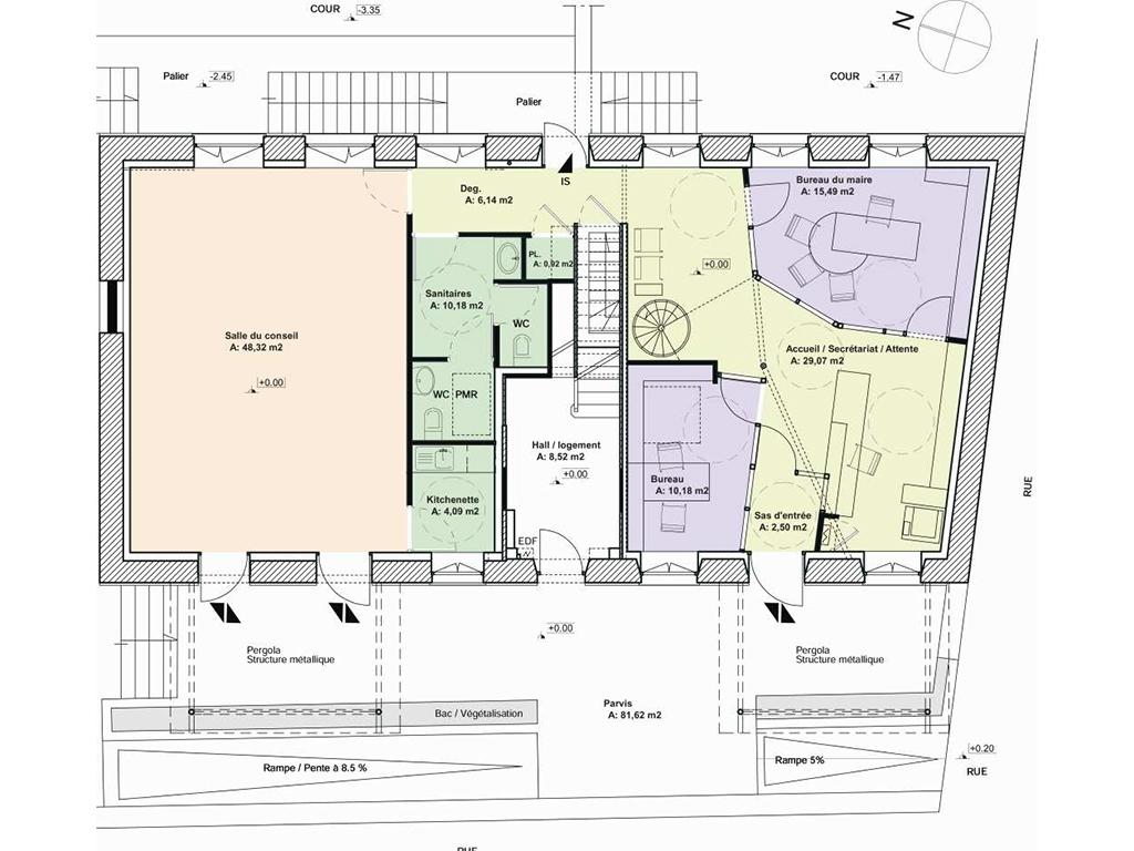 pascal chevalier architecte dplg qeb r habilitation du b timent de la mairie. Black Bedroom Furniture Sets. Home Design Ideas